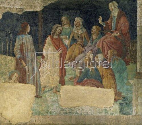 Sandro Botticelli: Ein junger Mann vor der Versammlung der freien Künste. 1484-1486