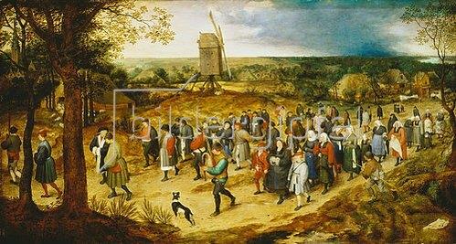 Jan Brueghel d.Ä.: Hochzeitszug auf dem Lande.