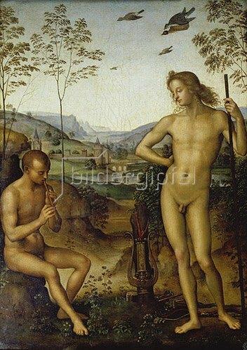 Perugino (Pietro Vanucci): Apoll und Marsyas.