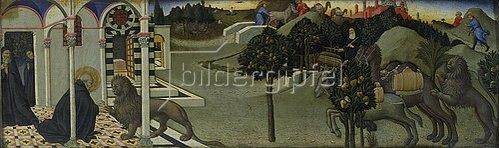 Sano di Pietro: Der hl. Hieronymus und der Löwe. 1444
