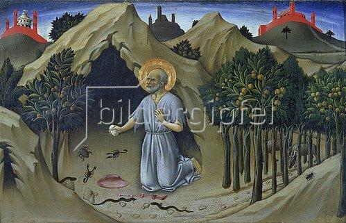 Sano di Pietro: Die Buße des hl. Hieronymus.