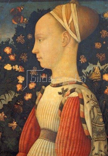 Pisanello (Antonio Puccio): Ginevra d' Este, Bildnis