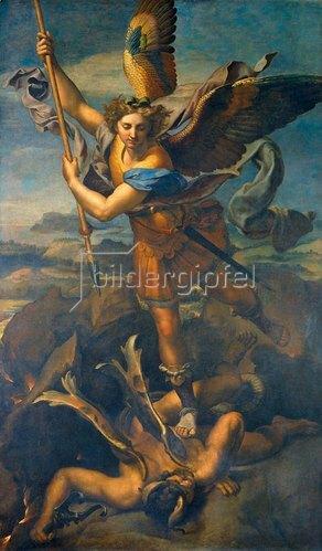Raffael (Raffaello Sanzio): Der hl. Michael besiegt den Teufel. 1518.