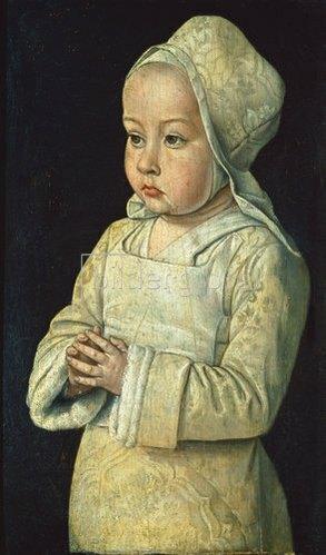 Jean (Meister von Moulins) Hey: Suzanne de Bourbon (gen. Das betende Kind). 1492/93