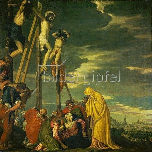 Paolo (Paolo Caliari) Veronese: Kalvarienberg (Christus am Kreuz mit den trauernden Frauen und Jüngern).