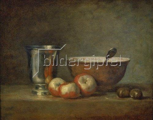 Jean-Baptiste Siméon Chardin: Der Silberbecher. Um 1765