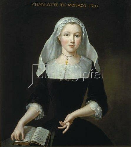 Pierre Gobert: Bildnis der 14-jährigen Charlotte von Monaco. 1733.