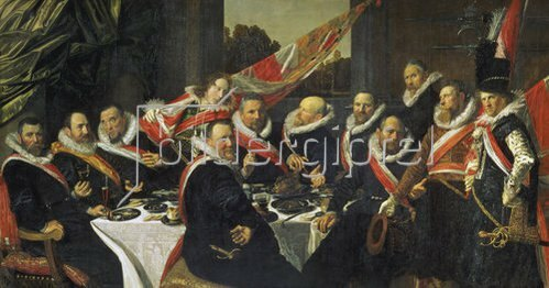 Frans Hals: Festmahl der Offiziere der St. Georgs-Garde in Harlem. 1616.