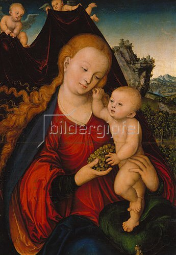 Lucas Cranach d.Ä.: Traubenmadonna