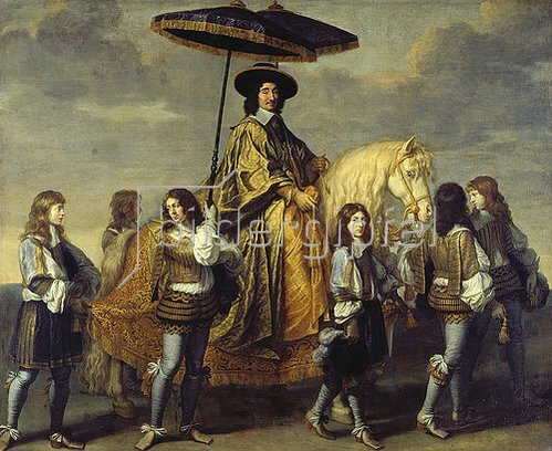 Charles Le Brun: Der Kanzler Séguier beim Einzug Ludwigs XIV. in Paris. Um 1655/57