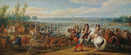 Adam Frans van der Meulen: Der Übergang über den Rhein am 12. Juni 1672.