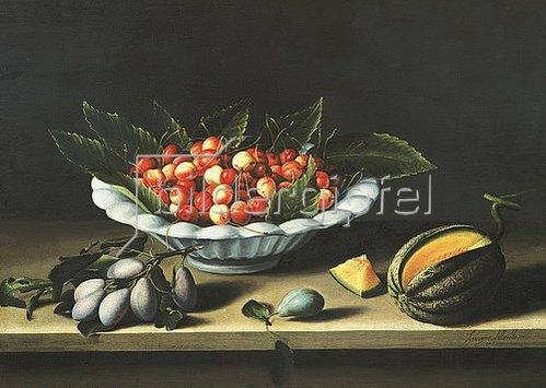 Louise Moillon: Schale mit Kirschen.
