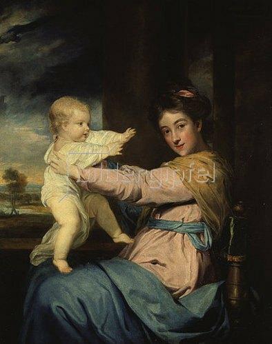 Sir Joshua Reynolds: Die Herzogin Caroline mit ihrem Sohn.