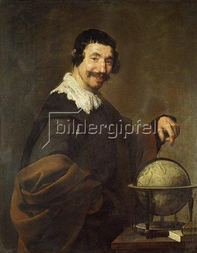 Diego Rodriguez de Velazquez: Demokrit (oder: Mann mit Globus). 1625-30