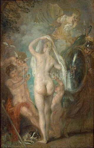 Jean Antoine Watteau: Das Urteil des Paris. Um 1718