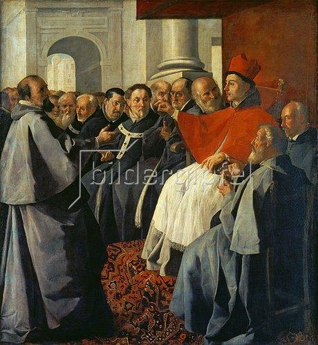 Francisco Zurbaran y Salazar: Der hl. Bonaventura auf dem Konzil von Lyon. 1629-1630