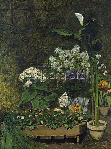 Auguste Renoir: Blumenstilleben (Arum und Gewächshauspflanzen). 1864.