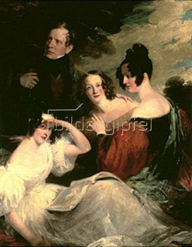 Frederick Richard Say: Robert Robertson, seine Frau Bridget und die Töchter Bridget und Amelia