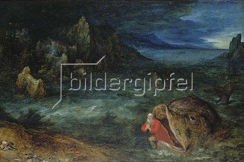 Jan Brueghel d.Ä.: Jona entsteigt dem Walfisch