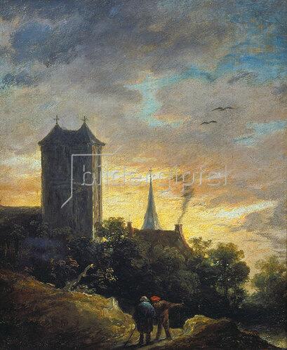 David Teniers: Landschaft mit Turm.