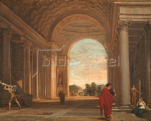 Pierre Lemaire-Poussin: Inneres einer Kirche in Rom