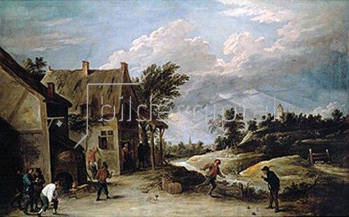 David Teniers: Kegelspiel vor der Schänke.