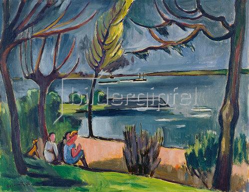 Helmut Macke: Mädchen am Niederrhein (Frühling am Niederrhein). 1926.