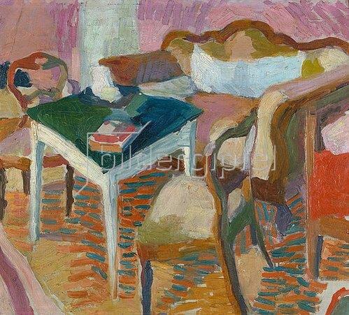 Helmut Macke: Interieur. 1910