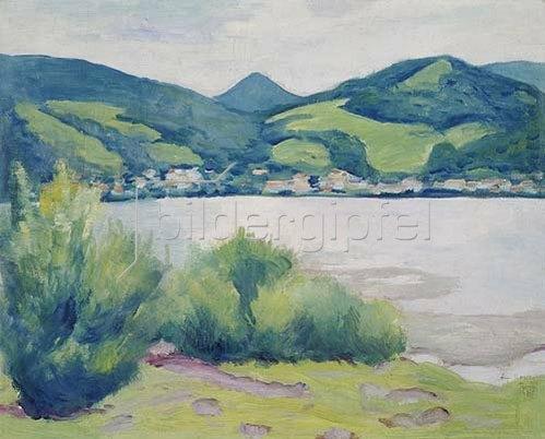 August Macke: Tegernseer Landschaft. 1910.
