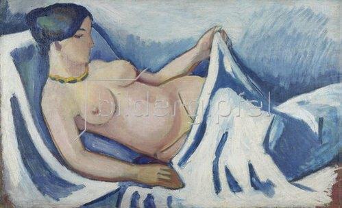 August Macke: Liegender weiblicher Akt. 1912.