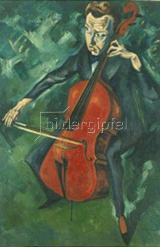 Heinrich Nauen: Der Cellospieler Polly Heckmann. 1919.