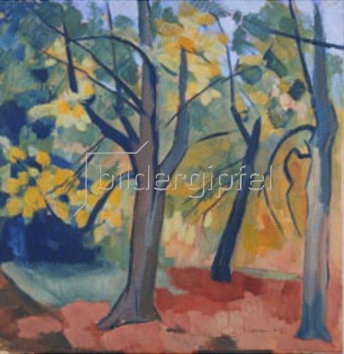 Heinrich Nauen: Bäume. 1921.