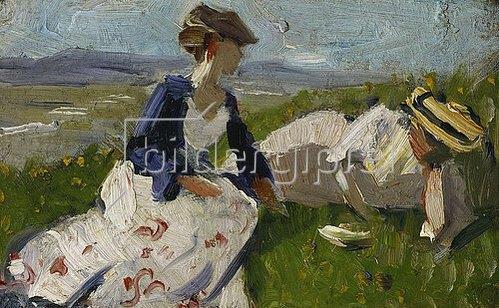 Franz Marc: Zwei Frauen am Berg (Maria Marc und Marie Schnür). 1906