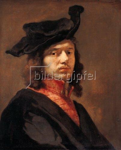 Carel Fabritius: Selbstbildnis (?). Gegen 1650.
