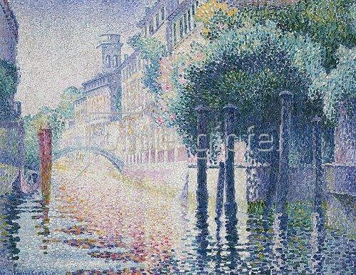 Henri Edmond Cross: Kanal in Venedig. Um 1904