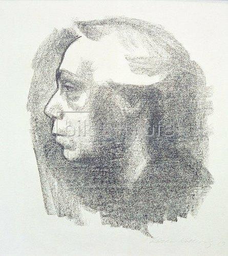 Käthe Kollwitz: Selbstbildnis. 1909