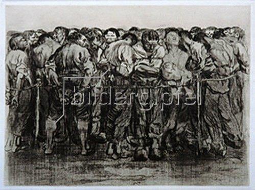 Käthe Kollwitz: Die Gefangenen. 1908