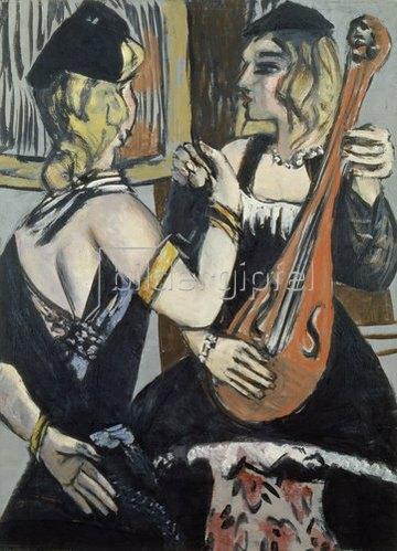 Max Beckmann: Kabarettistinnen. 1943.