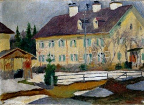 August Macke: Krankenhaus am Tegernsee. 1910.