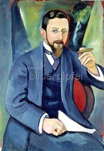 August Macke: Portrait des Schriftstellers E. A. Greeven 1911.