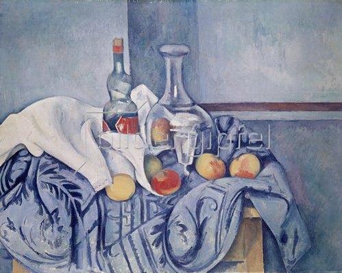 Paul Cézanne: Stilleben mit Pfirsichen und Flaschen