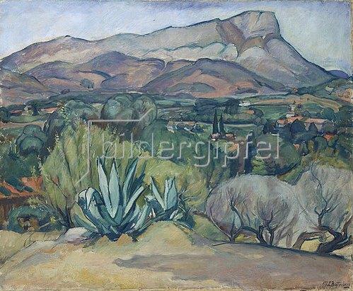 Mathilde Battenberg: Provence Landschaft. 1914.
