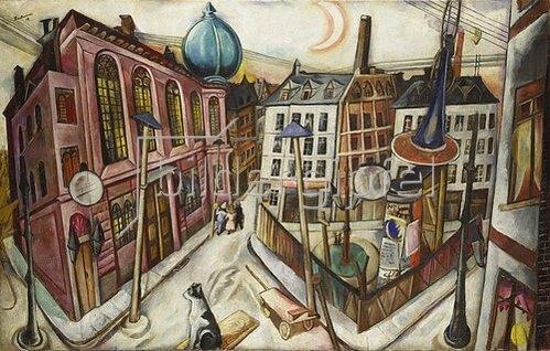 Max Beckmann: Die Synagoge in Frankfurt am Main. 1919