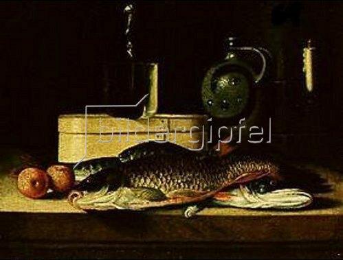 Sebastian Stosskopf: Stilleben mit Fischen.