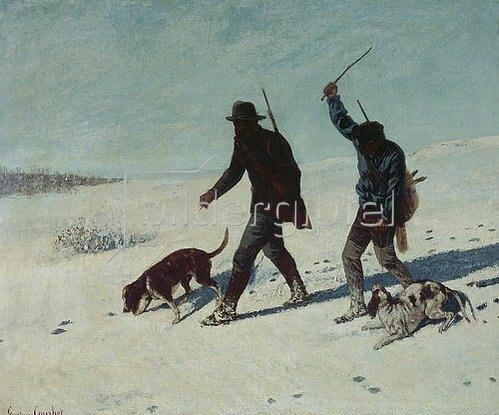 Gustave Courbet: Die Wilddiebe (Les Braconniers). 1867