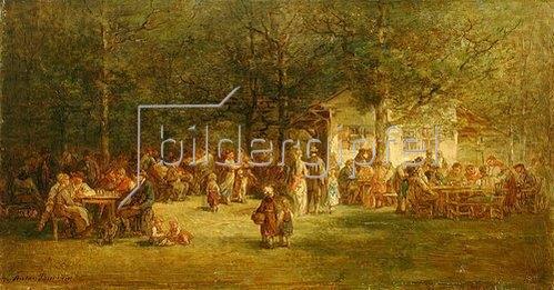 Anton Burger: Vor der Waldschänke. 1876.