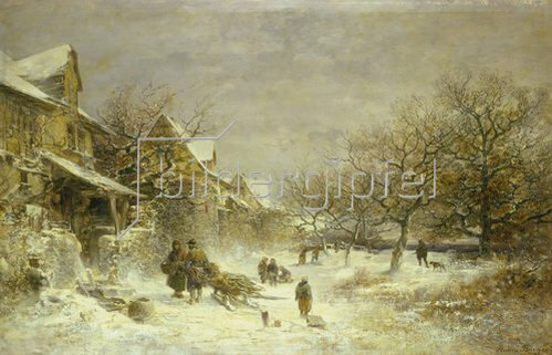 Anton Burger: Winterlandschaft. 1884.