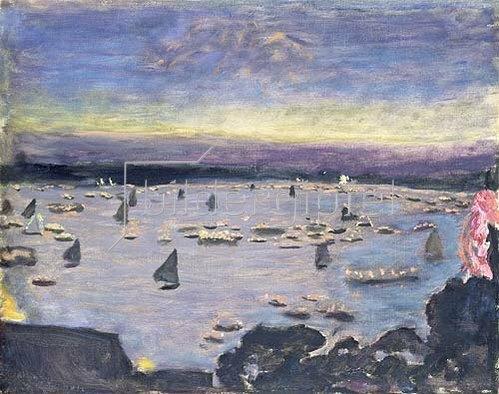 Pierre Bonnard: Lampionkorso auf der Außenalster. 1913.