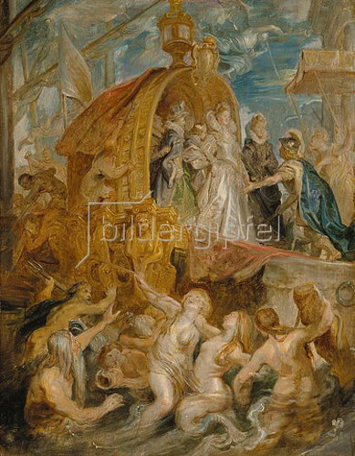 Peter Paul Rubens: Die Landung der Maria de' Medici in Marseille 3.11.1600. Skizze zum Medici-Zyklus.
