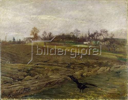 Lovis Corinth: Acker im Spätherbst (Grosse Rabenlandschaft). 1893.